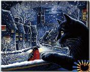 "Картина по номерам "" Волшебная зима"""