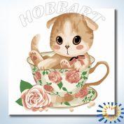 "Картина по номерам ""HOBBART Lite. Подарок к чаепитию"" 20х20"